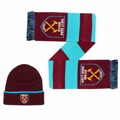 West Ham United Winter Warmers Hat & Scarf Set