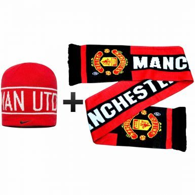 Manchester United Winter Warmers Hat & Scarf Set