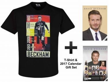 David Beckham 2017 Soccer Calendar & T-Shirt Set
