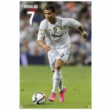 Official Cristiano Ronaldo & Real Madrid Poster