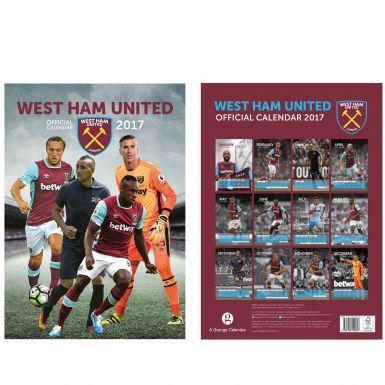 West Ham United 2017 Soccer Calendar