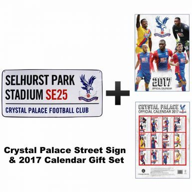 Crystal Palace 2017 Calendar & Street Sign Gift Set