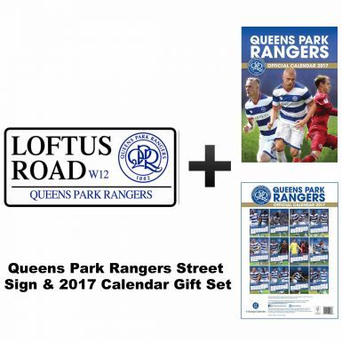 Queens Park Rangers 2017 Calendar & Street Sign Gift Set