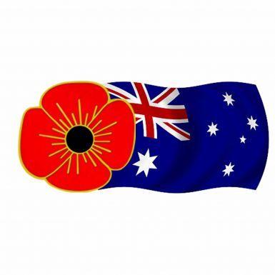 Poppy & Australia Flag Pin Badge
