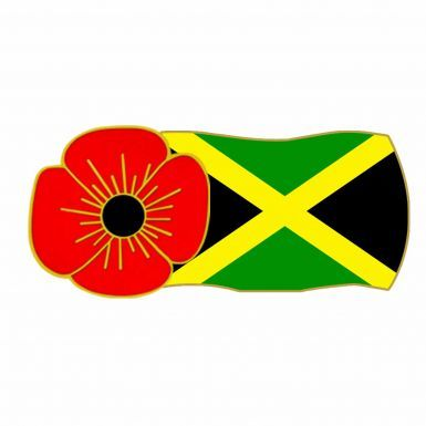 Jamaica Poppy Remembrance Pin Badge