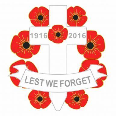 1916-2016 Cross Poppy Remembrance Badge