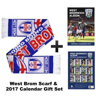 West Bromwich Albion 2017 Calendar & Scarf Gift Set