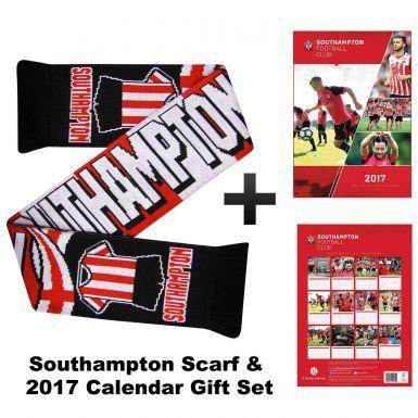 Southampton FC 2017 Calendar & Scarf Gift Set