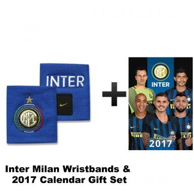 Inter Milan 2017 Calendar & Nike Wristbands Set