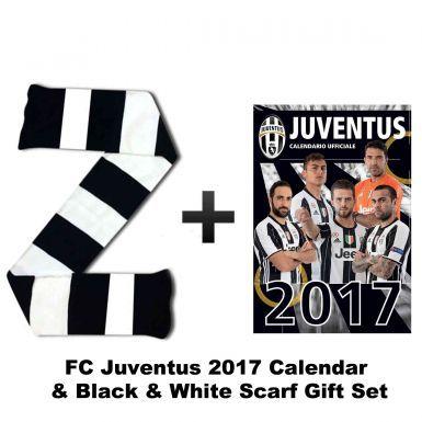 FC Juventus 2017 Calendar & Bar Scarf Set