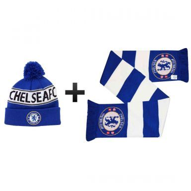 Chelsea FC Winter Warmers Ski Hat & Scarf Set