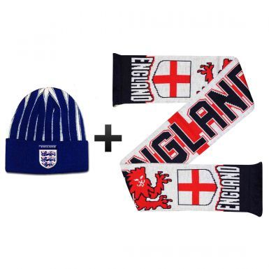 England Lions Winter Warmers Hat & Scarf Set