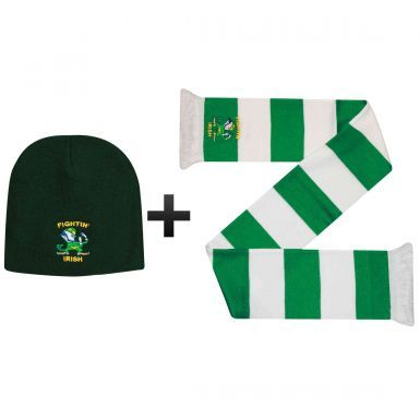 Ireland Fighting Irish Winter Warmers Hat & Scarf Set