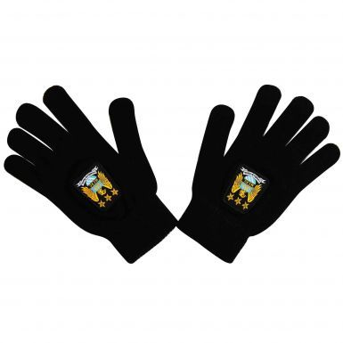 Manchester City Crest Woolly Gloves