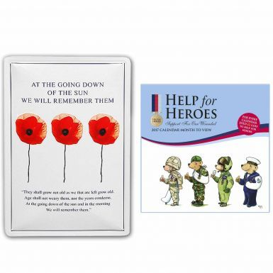 Help for Heroes 2017 Calendar & Bomber Command Wall Plaque Gift Set