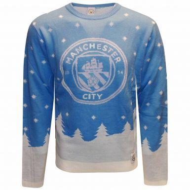 Manchester City Knitted Christmas Jumper