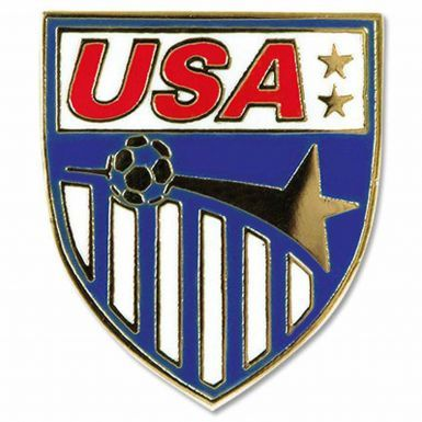 USA International Soccer Team Crest Pin Badge