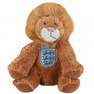 Plush England Football Crest Lion Toy