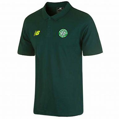 Celtic FC Footballl Crest Polo Shirt By New Balance