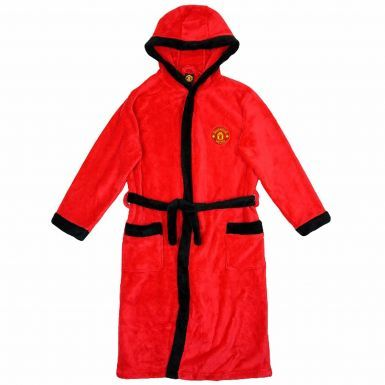 Manchester United Kids Hooded Dressing Gown