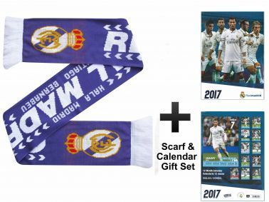 Real Madrid (La Liga) 2017 Calendar & Scarf Gift Set