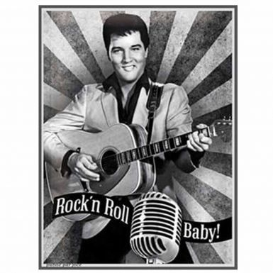 New Elvis Presley Portrait Metal Wall Picture