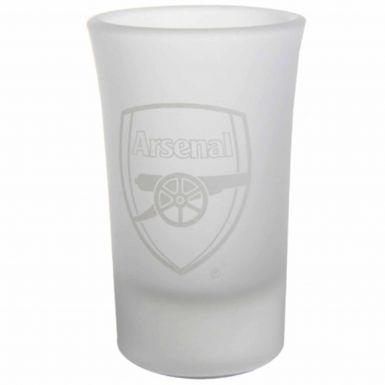 Arsenal FC Crest Frosted Shot Glasses Set