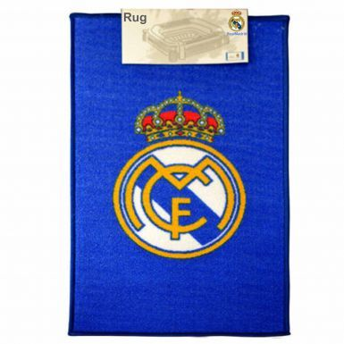 Official Real Madrid Crest Floor Rug for the Home