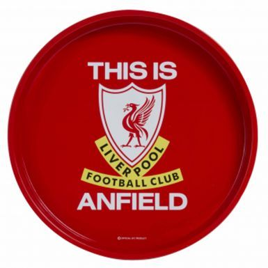 Liverpool FC Football Crest Metal Serving Tray
