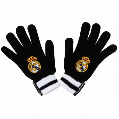 Real Madrid Crest Knitted Gloves