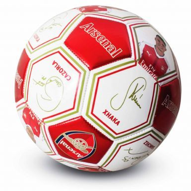 Arsenal FC Photo & Signature Football (Size 5)