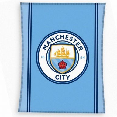 Official Manchester City Fleece Blanket Sofa Throw
