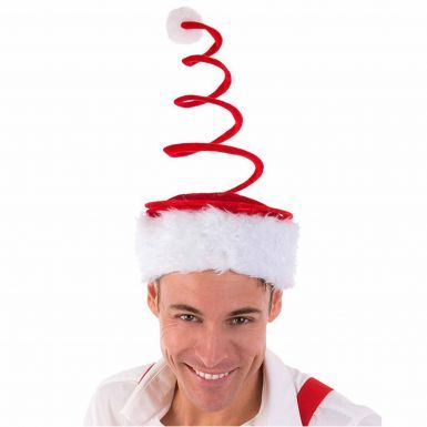 Novelty Unisex Christmas Spiral Hat