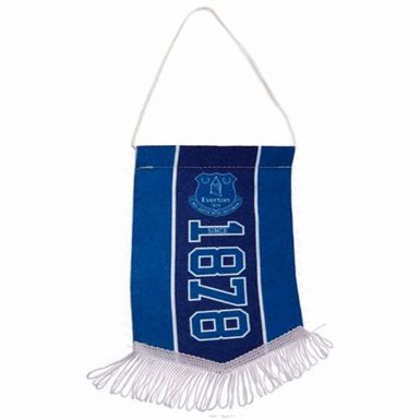 Official Everton FC Mini Pennant for Cars