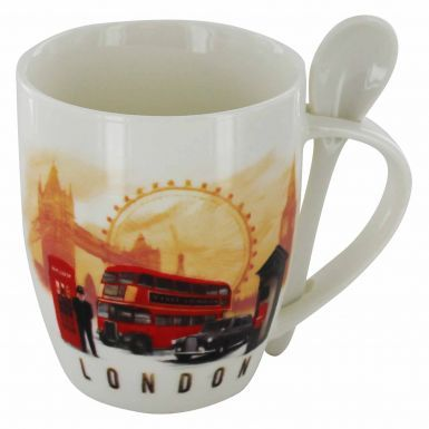 London Skyline Mug & Spoon Souvenir 11oz Mug