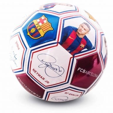 FC Barcelona Player Photo & Signature Football (Size 5)