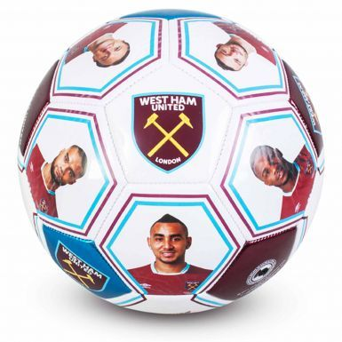West Ham United Player Photo & Signature Soccer Ball (Size 5)