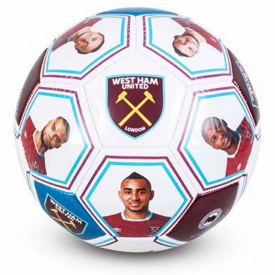 West Ham United Player Photo & Signature Soccer Ball (Size 5)