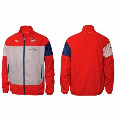 Official Kids Arsenal FC Zipped Leisure Jacket by Puma