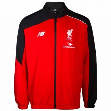 Official Liverpool FC Kids Leisure Jacket By New Balance