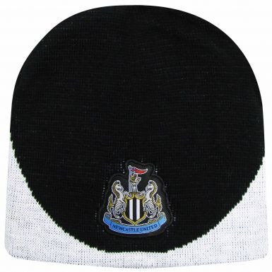 Official Newcastle United Crest Beanie Hat