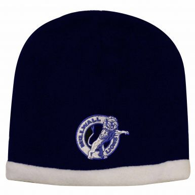 Embroidered Millwall Lions Fleece Lined Winter Beanie Hat