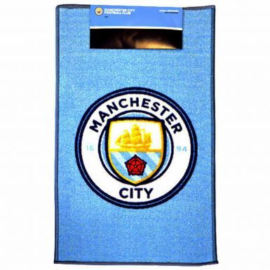 Official Manchester City Crest Floor Rug (50cm x 80cm)