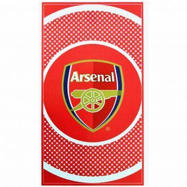 Arsenal FC Bullseye Crest Bath Towel