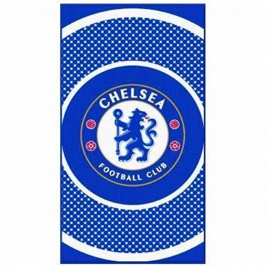 Official Chelsea FC Bullseye Crest Towel