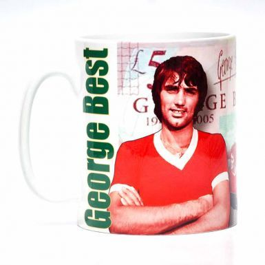 George Best Northern Ireland & Man Utd Legend Mug (11oz)