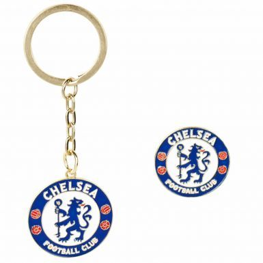 Chelsea FC Crest Keyring & Pin Badge Set