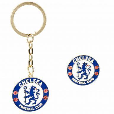 Chelsea FC Crest Keyring & Pin Badge Set