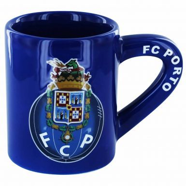 Official FC Porto 3D Crest Coffee Mug (11oz)