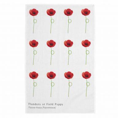 Poppy Flower Tea Towel by Imperial War Museum